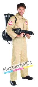 Il costume da Uomo Ufficiale del fantastico film Ghostbusters da Acchiappa Fantasmi