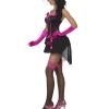 COSTUME donna sexy burlesque rosa e nero CARNEVALE HALLOWEEN O ALTRE FESTE A TEMA - Mazzucchellis