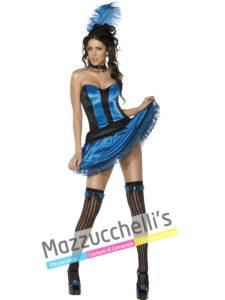Costume Donna del Saloon Travestimento Ballerina del Can Can