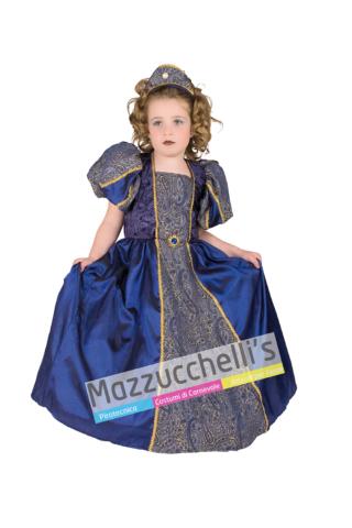 Costume Dama Blu bambina - Mazzucchellis