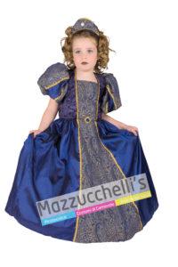 Costume Bambina Principessa Dama Blu