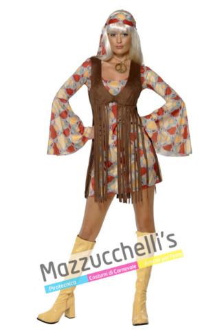 Costume Donna Hippie anni 60 70 - Mazzucchellis
