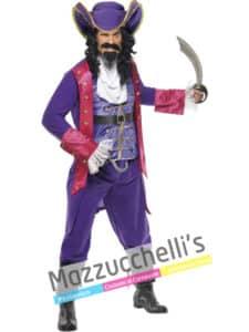 Costume Adulto Uomo Pirata Capitan Uncino di Peter Pan