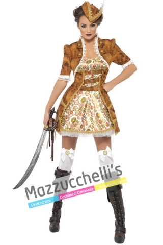 Costume Piratessa Steampunk - Mazzucchellis