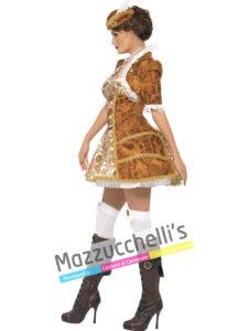 Costume Donna Piratessa Steampunk -Viaggio nel Tempo