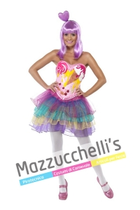 costume Cantante Famosa Katy Perry in California Gurls donna cantante famosa - Mazzucchellis