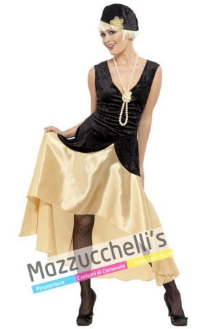 costume donna gangster anni '20 - Mazzucchellis