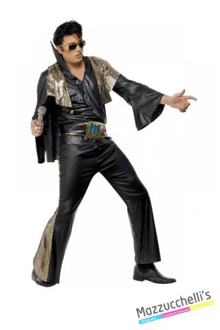 COSTUME UOMO PERSONAGGIO FAMOSO CANTANTE ALVIS Presley CARNEVALE HALLOWEEN O ALTRE FESTE A TEMA - Mazzucchellis
