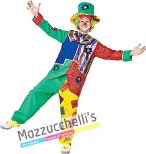 Costume Uomo Carnevale Clown Pagliaccio