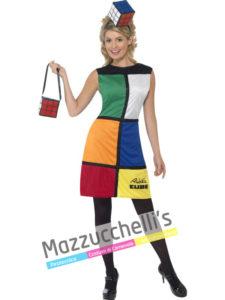 Costume Donna Cubo di Rubik