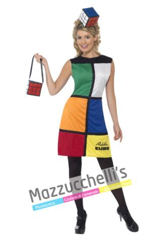 Costume Donna Cubo di Rubik -Mazzucchellis