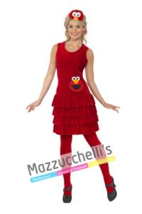 Costume Donna Elmo – Sesame Street- Mazzucchellis