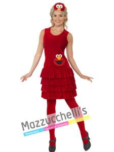 Costume Donna Elmo - Sesame Street
