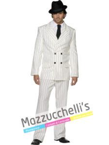 Costume Uomo Gangster Boss Mafioso Gessato Anni 20