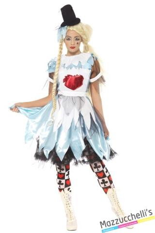 costume alice nel paese delle meraviglie horror halloween , carnevale o altre feste a tema - Mazzucchellis