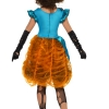 costume assasina blu e arancione zucca halloween , carnevale o altre feste a tema - Mazzucchellis