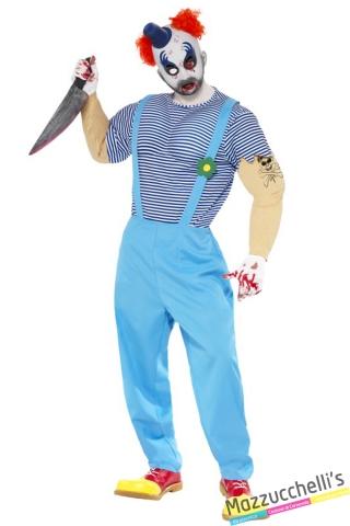 costume clown circo horror halloween , carnevale o altre feste a tema - Mazzucchellis