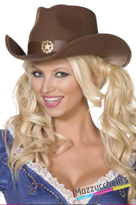 CAPPELLO cowboy western wild west marrone adulta - Mazzucchellis