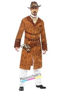 COSTUME WEST AGENT STEAM PUNK COSTUME PIRATA STEAM PUNK carnevale halloween o altre feste a tema - Mazzucchellis