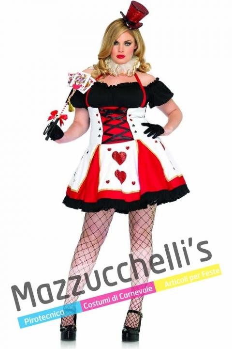 Costume Donna Curvy Regina Di Cuori - Alice nel Paese delle Meraviglie