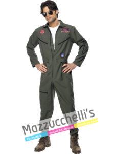 Il costume da uomo del fantastico aviatore della marina militare americana del film d'azione Top Gun