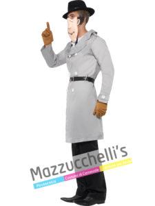 costume da Uomo del Maldestro Detective del cartone animato Ispettore Gadget