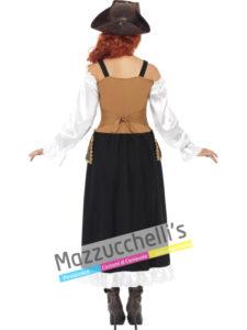 Costume Adulta Donna Pirata Steampunk -Viaggio nel Tempo