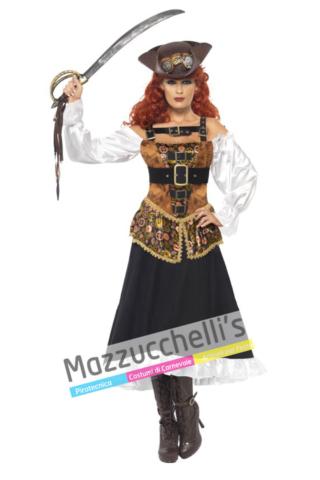 Costume Pirata Steampunk -Viaggio nel Tempo - Mazzucchellis
