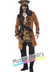 Costume Uomo Pirata Steampunk -Viaggio nel Tempo