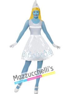 Costume Donna Puffetta del cartone animato I PUFFI