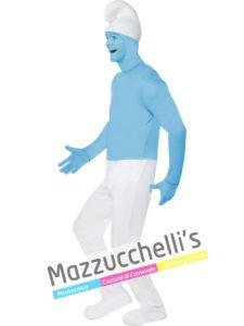 Costume da uomo da puffo del cartone animato i puffi