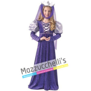 Costume Bambina Dama Regina del rinascimento