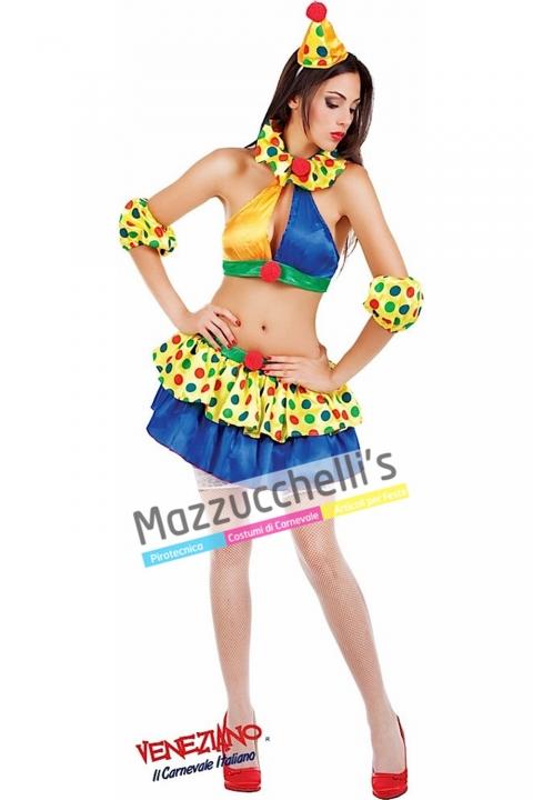 Costume Sexy Clown Pagliaccetta -Mazzucchellis