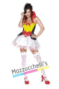 Costume Sexy Regina Di Cuori – Alice nel Paese delle Meraviglie - Mazzucchellis