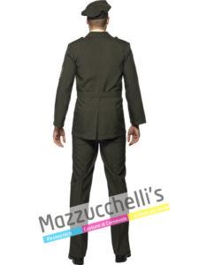 Costume uomo adulto mestieri lavori Ufficiale di guerra