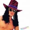 cappello in velluto in tre colori pappone carnevale halloween e feste a tema
