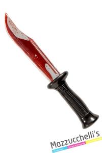 coltello insanguinato horror halloween o altre feste a tema - Mazzucchellis