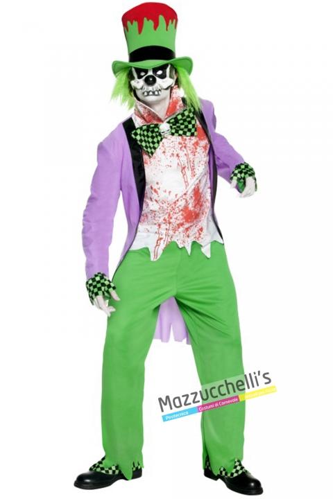 costume cappellaio matto horror film alice nel paese delle meraviglie carnevale halloween o altre feste a tema - Mazzucchellis