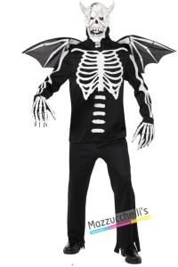 costume demone scheletro horror carnevale halloween o altre feste a tema - Mazzucchellis