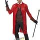 costume dracula vampiro rosso carnevale halloween o altre feste a tema - Mazzucchellis