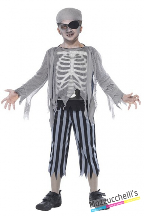 costume fantasma zombie bambino carnevale halloween o altre feste a tema - Mazzucchellis