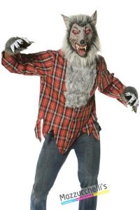 costume horror lupo malvagio carnevale halloween o altre feste a tema - Mazzucchellis