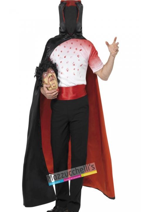 costume horror uomo senza testa Zombie carnevale halloween o altre feste a tema - Mazzucchellis