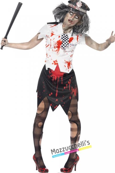 costume poliziotta zombie halloween , carnevale o altre feste a tema - Mazzucchellis