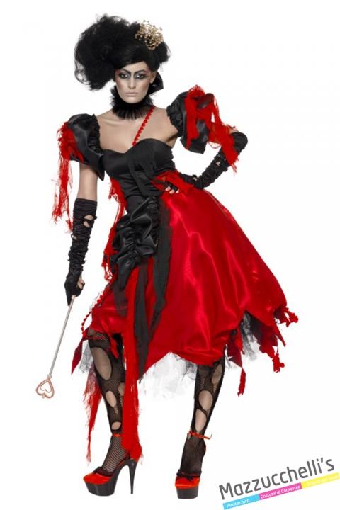 costume regina di cuori horror gotico halloween , carnevale o altre feste a tema - Mazzucchellis