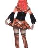 costume strega arancione halloween , carnevale o altre feste a tema - Mazzucchellis
