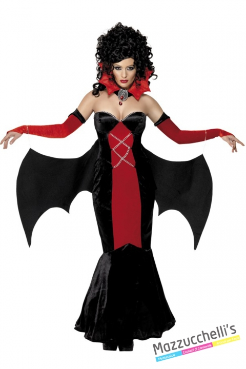 costume vampira gotica halloween , carnevale o altre feste a tema - Mazzucchellis