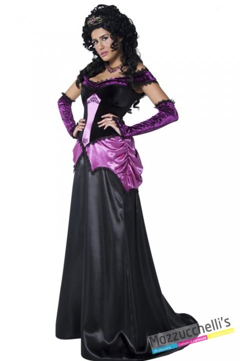 costume vampira nera e viola halloween , carnevale o altre feste a tema - Mazzucchellis