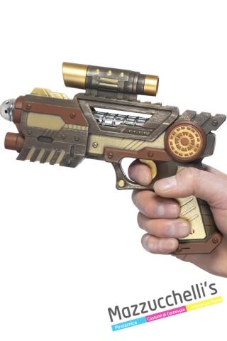 pistola steampunk viaggio nel tempo futuro - Mazzucchellis