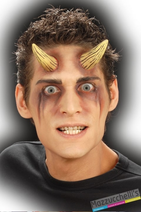 CORNA PROFESSIONALI DEMONE diavolo horror halloween carnevale feste a tema - Mazzucchellis